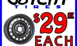 Brand new steel wheels for the winter. Only $29.87 each. That's just $135 for a set of four after taxes. Joycity Tires 230 Don Park Rd. Unit 13 Markham, Ontario, L3R 2P7 http://www.joycitytires.com Monday to Friday 10am to 7pm Saturday 10am to 4pm **