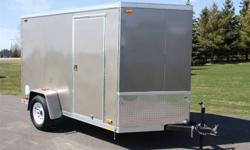 New Enclosed 6x10 Trailer Side Door 3/8 plywood lining OSB Engineered Flooring Smooth Screwless exterior 6 ft interior height LED lights Please call Colleen 1-800-570-5490 . Go to my new website www.tctrailers.ca. For internet specials