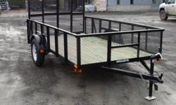 """2012 6x12 Utility Landscape Trailer, 24"""" High Steel Mesh Sides, 4' Ramp Gate, 3500lb axle, 15"""" Tires and Wheels, 2k Jack, 2"""" Ball Hitch,2990GVW Wholesale Priced @ $1590 www. fraserpacificequipment.com"""