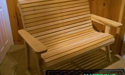 These are very comfortable and stylish. The wide arms rests can support a drink so you can have your hands free. We made these out of white cedar bought at a local saw mill. White cedar is perfect for the outdoors because it can withstand the worst in