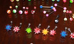 I HAVE A FEW THOUSAND NEW BELLYBUTTON RINGS- YOU CAN VIEW THEM ON FACEBOOK THE GARAGE SALE HUMBOLDT SITE- THEY ARE ALL NEW I AM ASKING 5.00 FOR 1 OR 2 FOR 12.00. THE DANGLY ONES ARE 10.00 EACH. NO TAX NO SHIPPING- I AM LOCATED IN HUMBOLDT BUT FREQUENT