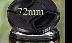 New Camera Lens Cap 72mm -Camera Lens Cap 72mm - Brand New -Fits all 72mm Camera Lens Other model also available: 55mm, 58mm, 62mm, 67mm, 72mm, 77mm, 82mm and more. We carry many camera accessories like battery, charger, lens cap, lens hood, etc Store: