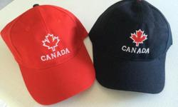 New Canada Baseball Caps Have several of each Makes a nice gift for visitors or to take along as a souvenir when visiting abroad. $10 each