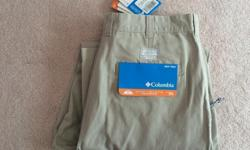 Columbia Sportswear Company, since 1938 Men's OMNI-SHADE Sun Protection, UPF 50 New, tags still attached Size: Waist 36 inches, inseam 32 inches Excellent colour for matching purposes $40