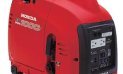 See the EU1000i Work~ http://www.youtube.com/watch?v=z7Lv0LMIC5s   EU1000i Specifications Engine Honda GXH50 Displacement 50cc AC Output 120V 1000W max. (8.3A) 900W rated (7.5A) Receptacles 15A 125V Duplex DC Output 12V, 96W (8A) Starting System Recoil