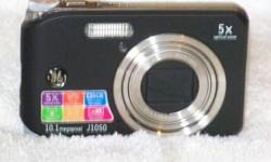 These digital cameras are General Electric J1050, brand new still in the sealed box.  Registration and warranty (one year) documents are in the box for your review and submission.  The following is a list of some of the many fine features included with