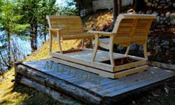 This garden swing is made of white cedar witch is chemical free and great for the outdoors. The smooth gliding motion and the supper comfortable seats make this a great addition to your backyard. Your neighbours will envy you with just one sitting. We