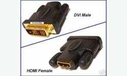 """Brand New DVI Male to HDMI Female adapter This adapter converts your DVI output device ( like SAT box, Cable Box, DVD player) to an HDMI compatible output. 1080P guatanteed. - We specialized in Cables & Accessories Store: """"Cable Link"""" 2525 Carling Avenue,"""