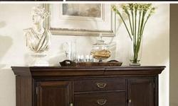 The Newhaven Buffet by Fairmont Designs features a beautiful and classic design that will definitely be a great addition to your traditional themed dining room. This Buffet is a MUST see in order appreciate it's beauty and value. Materials /