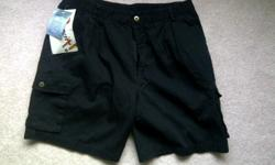 New black Caccia men's shorts 4 side and 1 back pocket 100 % cotton $15