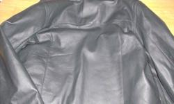 New men's medium leather jacket. Never worn in excellent condition. Paid $250 for it last year as a Christmas gift.