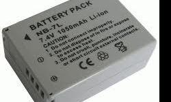 Brand New Replacement Battery for Canon NB-7L NB7L - Battery Type: Li-ion - Voltage: 7.4V (compatible with 7.2V) - Capacity: 1050 mAh - High quality generic (non-OEM) digital camera battery. - No memory effect. Chargeable even if it has not been used up