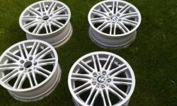 """Don't settle for used rims that are """"like new"""", these actually are BRAND NEW IN BOX, UNOPENED Genuine BMW Rims, High Quality These rims cost $900 for a single rim at BMW dealership, Great Deal for a set of 4 Original BMW M 164 style Rims Winter tire"""