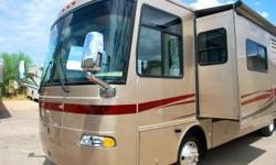 Do you want to trade up? May look at RV Trailer, or Tandem Gravel truck as part trade. 2005 34' Monaco Holiday Rambler two slides. 42000 miles. Has the very unique side hallway to master bedroom with large windows. Price Adjusted to $83,500.00 for quick