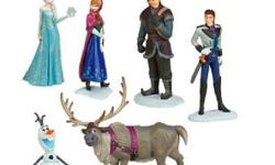 I have a New Set of Frozen Figurines for sale! This is in excellent condition and would look great in your child's room or to give as a gift. This retails for $25 in stores so this is a great deal. Figurines that are included in this set: * Elsa * Anna *