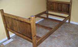 NEW! Never used, handmade, pine children's bed frame. Fits standard single mattress.