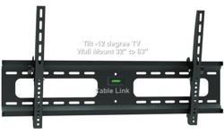 "Brand New Sealed in Retail Package.: This TygerClaw LCD3401BLK Tilt wall mount is designed for most 37"" to 63"" flat-panel TVs up to 165lbs/75kgs with tilt degree from -10? to 0?, and is constructed from heavy gauge steel for total support and durability,"