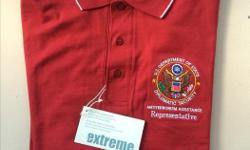New US DoD Diplomatic Security Polo Shirt 100 % Ring Spun Combed Cotton Size: Medium Very soft material, attractive colour $25