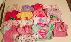 Very nice, like new, no stains baby girls clothing. Approximately 40-50 onsies, 20 sleepers, 10 pants. Can make outfits with a bunch of onsies and pants. We are having a boy in October and would like to sell our daughters clothes so we can buy new clothes