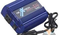 """NEXXTECH 175-WATT POWER INVERTER   Pls. contact 647-344-1350 or visit http://www.wynntrading.com/Catalog.aspx?srchSearchCriteria=power+inverter   Sufficient power to run up to a 13"""" TV and most portable electronic devices. Single 3-prong outlet with power"""