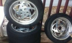 """rims cam off a chev s10 they fit on many 5 bolt cars or trucks  i had them on my garnd am that is now sold they are unabolt 10 holes in the rims 300 or best     rims are 16""""       GTP53 17x7   Product ID: BGTP537700   Finish: Polished Aluminum Wheels"""