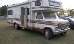 clean low millage 28ft ford empress,sleeps up to 6,fully equiped,well maintained apholsetery is clean no rips,awning in good condition,6tires in good shape, has a.c. 3 gas tanks, 3 way fridge,freezer,3500 watts generator,everything in great working order,