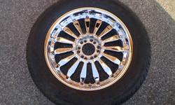 Four Falken 20x8.5 Inch Chrome Spoke Wheels & Falken Ziex S/TZ04Tires Size P295/50/R20 118H.Two sizes 6x127mm,&6x135mm..They are barely used and have lots of tread left. I sold old truck and kept these rims & tires but they don't fit the new truck. They