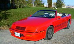 Nice set of tires and rims.   Great little car. 1991 Chrysler Lebaron GTC convertible. 186000km   V6, automatic. Tilt steering, cruise control. Power windows, power locks. Power drivers seat. New brakes front and back. New gas tank. New tires. Picture