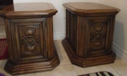 """Night Stands/Bedside Tables 19"""" wide / 26""""deep / 20"""" high non smoking, no bugs, no pets home. Please check my other ads. Thank you."""