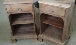 These two Gibbard nightstands are stripped and ready for paint or staining. They are heavy solid pieces made by Gibbard a high end Canadian furniture company. Asking 180 for the pair obo. Chck out my other ads for more neat furniture.