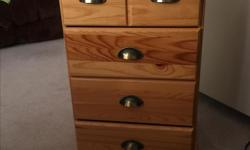 4 drawers Width: 19 Depth: 15 1/2 Height: 28 1/2