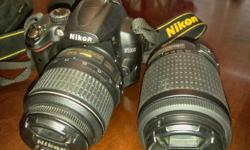 I have a Nikon D5000 digital SLR camera package for sale. Comes with one 55mm and one 200mm lens and lens hood, extra lens carry pouch for protection, MH-23 quick battery charger and a specialty camera bag with a backpack option. Bought new for just over