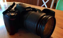 Works well, I am just not a very good photographer. As seen in the picture it comes with an upgraded 135mm lens. Also comes with the original 55mm lens but the auto focus stopped working on it. Very nice versatile camera with many functions. Thank you for