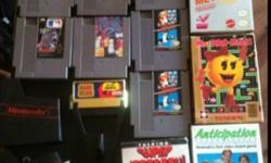 I have 2 nintendo 4 padals 2 guns and 14 games here for b.o 2 games have 2 sets and are the super Mario this is way old and work great !!!! This ad was posted with the Kijiji Classifieds app.