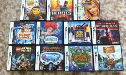 I am selling the following Nintendo DS game and Game Boy Advance game bundles. Email me and tell me which bundle you want. All are in great shape and in 100% working order. I will not sell the games individually. Must be picked up in Mississauga by Square