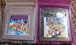 I am selling these two Gameboy Super Mario games, asking $15 ( each ) firm or I will exchange them for NES or SNES  Super mario games. Super Mario Land Super Mario Bros Deluxe
