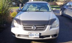 Make Nissan Model Altima Year 2004 Colour silver grey kms 210000 Trans Automatic One owner, lady driven, highway kilometers, very well taken care of, runs beautifully & economical!