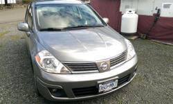 Make Nissan Model Versa Year 2007 Colour Gray kms 91450 Trans Automatic Very clean, low mileage, always well maintained. Loaded with p/steering, p/brakes, p/windows, p/mirrors, p/locks, A/C, overdrive transmission, ABS, heated rear window, Bluetooth