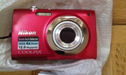BRAND NEW - I've never used it. Nikon COOLPIX S2500 12.0 M.P 4x Optical Zoom 2 Years Manufacturer Warranty Li-thion ion battery (rechargeable) 12.0 million pixels 4x Optical Zoom Scene modes Scene Auto Selector Flash Looking for a quick sale - cheers,