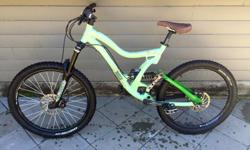 For sale is a Norco six three full suspension mountain bike. It has 6 inches of front and rear travel with air lock out marzocchi 55r front forks. Fox vanilla R rear suspension, Juicy 3 front and rear hydraulic disk brakes, sram X-5 rear derailleur and