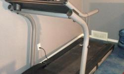 """NordicTrack Exp1000 Treadmill Not used that much. 54"""" high, 37"""" wide and 71"""" long. Tread folds up and there are wheels for ease of movement. Cannot deliver so pick up only. Asking $300 but will accept offers or a trade for a good but lightweight computer"""