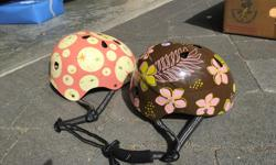 Cool patterns, well-used but never cracked/in accident. Bargain for these high quality helmets. $10 each.