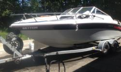 Celebertyis is a Bombardier company, This boat comes with a tandum axle trailer-new bearings and brakes done last Fall,Alpha 1 leg,5.7 chev engine The Boat has had two new batteries, starter, leg rebuilt ,new heat excangeres for the freash water cooling