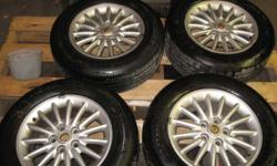 Rims & tires off a 2001 Dodge Intrepid 225 60 R16 2 are Goodyear Eagle GA 2 are Cientra Plus Tires are about 50% Complete with wheel nuts. 1 rim center cap missing. Asking $350.00 O.B.O Call Terry @ 403-308-1310