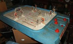 One old hockey game ,complete,fresh out of the attic,just needs cleaned up. 337-2127...35.00 the stains wipe right off with a damp cloth,i want more money if i clean it.