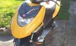Made in Taiwan, very fast, clocked @ 46 m.p.h (75 k.p.h) very low miles for the year some scrapes and scratches from 1st owner no mechanical issues, works and starts excellent 2nd owner since 2008 (verifiable), used only a few hours since purchase Mirrors
