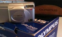 Compact 38-80mm zoom camera Auto flash Auto focus/fully automatic Date Self timer For those of you who still like playing around with film. Thus camera was hardly used and is in excellent shape with box and case. $45.00 This ad was posted with the Kijiji