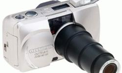 Olympus Stylus Zoom 140 DLX Panorama 35mm Camera Panorama mode 35mm film format Multi-autofocus system Zoom viewfinder with autofocus and flash indicators Programmed auto exposure Self-timer Built-in automatic flash Red-eye reduction $35.00 O.B.O.
