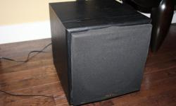 Excellent condition ( just serviced) To get the best sound from either your home theatre or your home stereo you must use a sub woofer..A powered sub woofer is the only way to go.