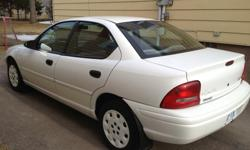 Make Plymouth Model Neon Year 1998 Colour White kms 71400 Trans Automatic Great student car! Low kilometers. New rad, newer battery, rear brakes, exhaust. Need approximately 350 in parts for mechanical. Runs great.